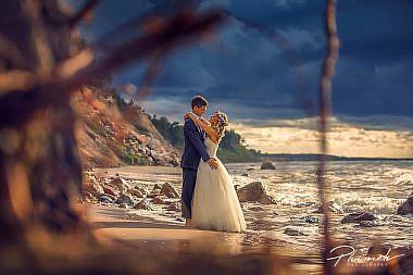 Kāzu fotogrāfs, fotogrāfs Mārtiņš Plūme, Jūrkalne, stāvkrasts, fotosesija, kāzu fotosesija