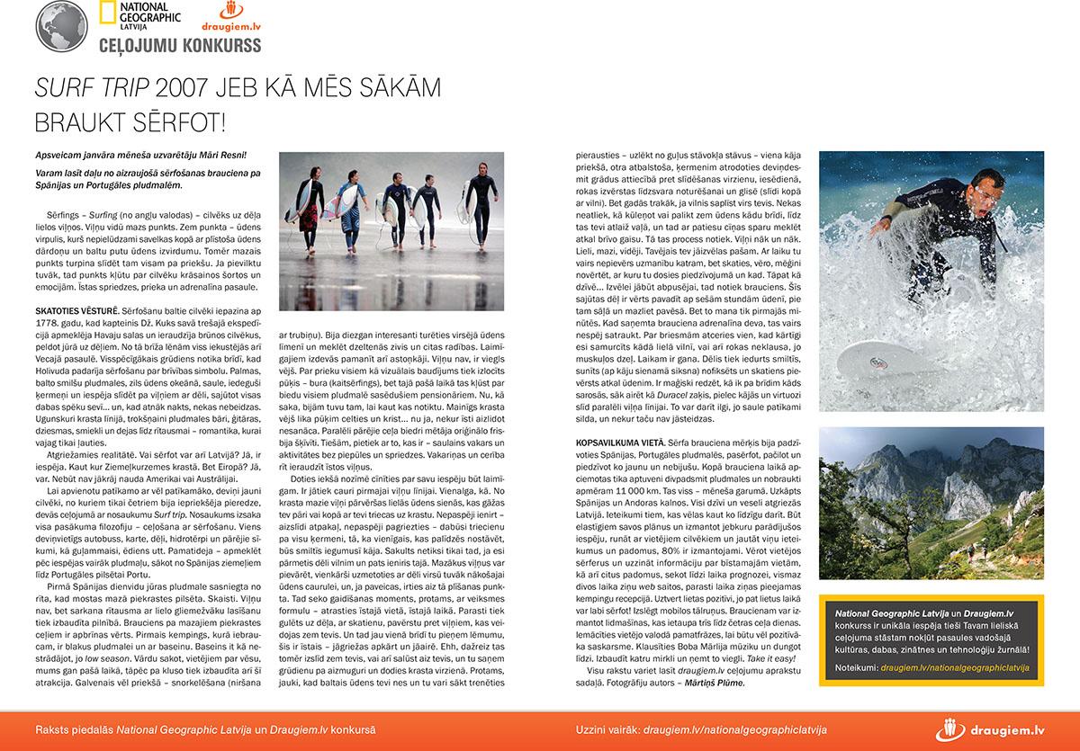 National Geographic, Latvija, surf