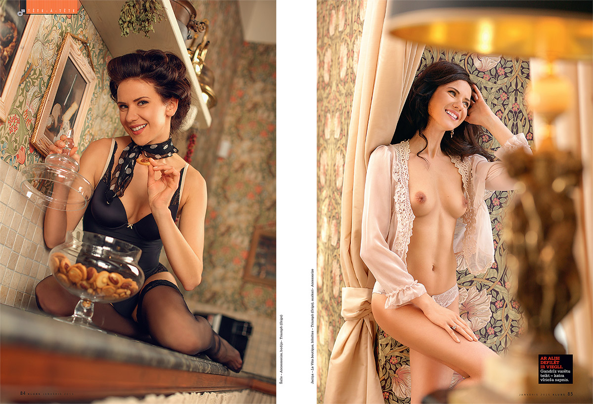 Alise, kailfoto, zurnals Klubs, Fotografs Martins Plume, erotiska fotosesija
