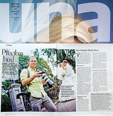 Kāzu fotogrāfs Mārtiņš Plūme, Žurnāls ''UNA''