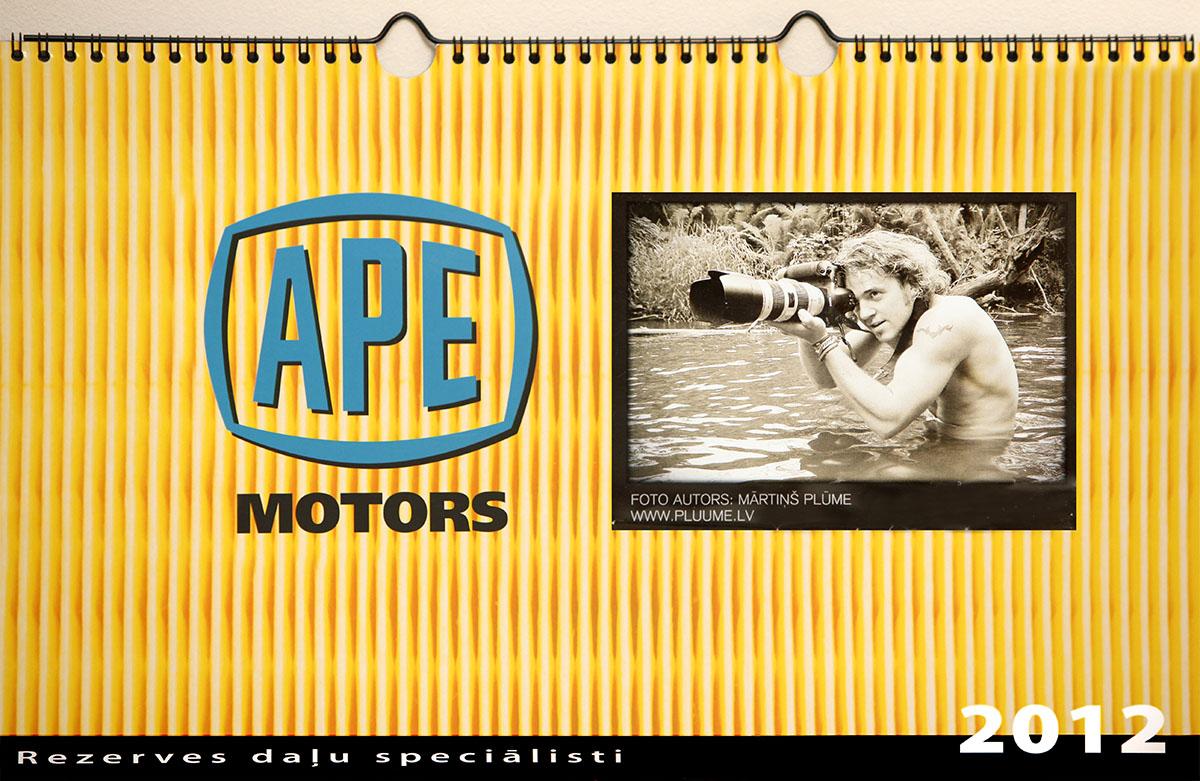 APE motors erotiskais kalendars 2012