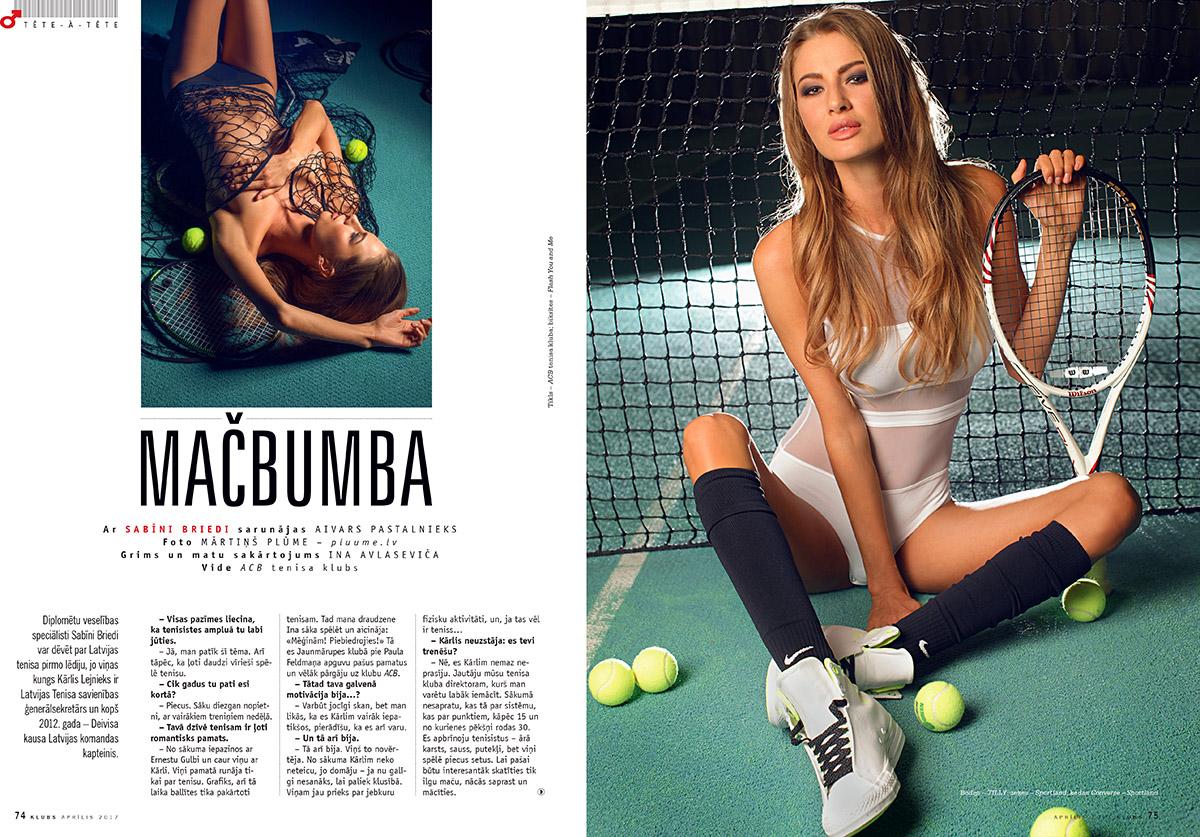 Zurnals Klubs, Sabine Briede, kailfoto sesija, fotografs Martins Plume, teniss, magazine klubs (2)