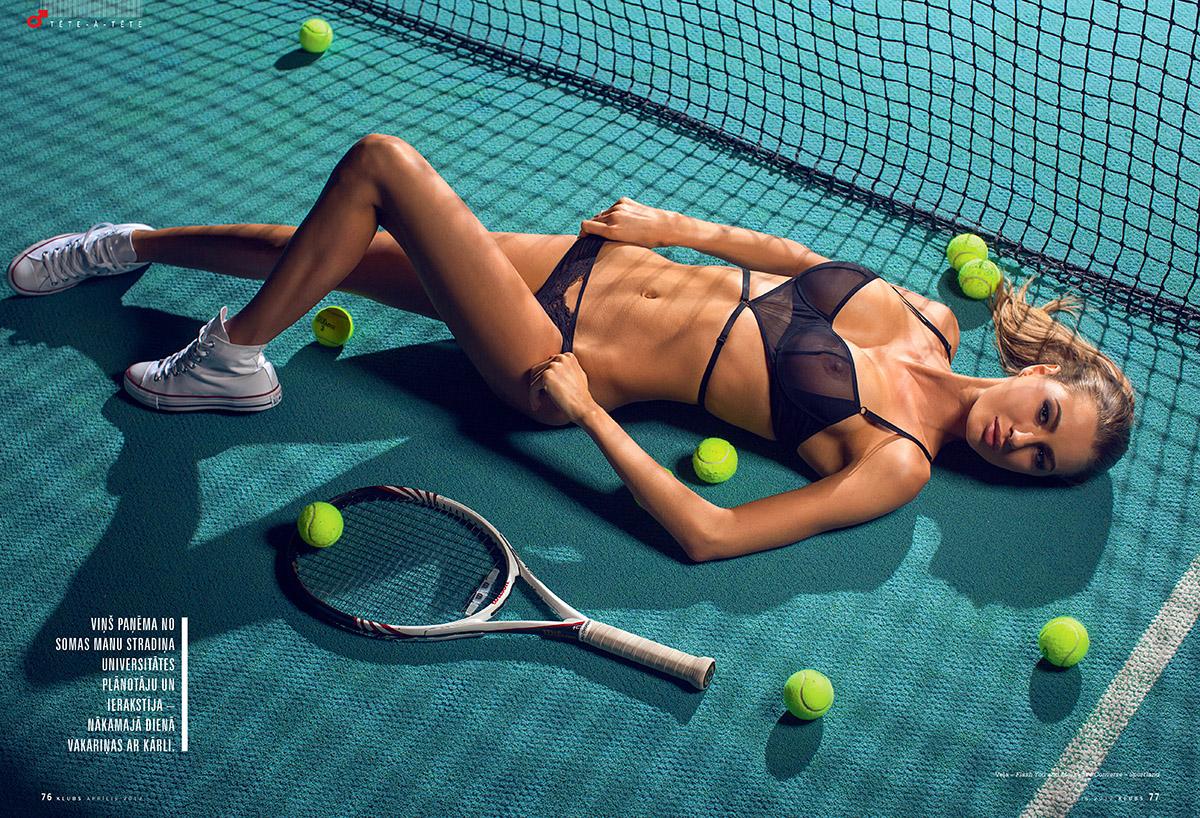 Zurnals Klubs, Sabine Briede, kailfoto sesija, fotografs Martins Plume, teniss, magazine klubs (3)