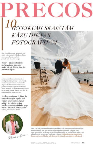 Mani ieteikumi kāzām žurnālā PRECOS